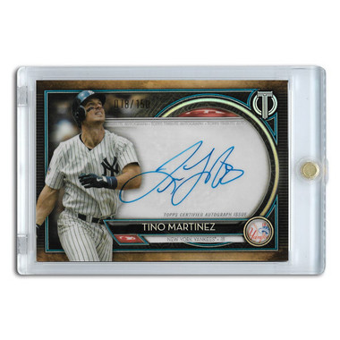 Tino Martinez Autographed Card 2020 Topps Tribute Ltd Ed of 150