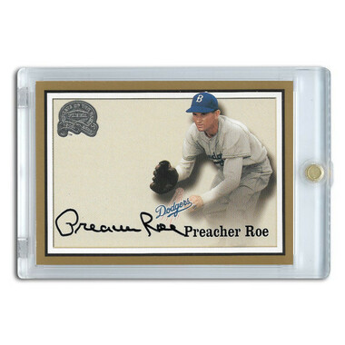 Preacher Roe Autographed Card 2000 Fleer Greats of the Game