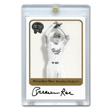 Preacher Roe Autographed Card 2001 Fleer Greats of the Game