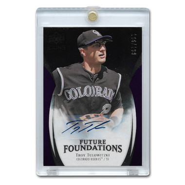 Troy Tuowitzki Autographed Card 2009 Upper Deck Icons Future Foundations Ltd Ed of 199