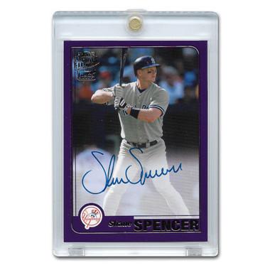 Shane Spencer Autographed Card 2020 Topps Archives Franchise Favorites Purple Ltd Ed of 150