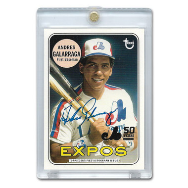 Andres Galarraga Autographed Card 2019 Topps Expos 50th # MTLA-AG