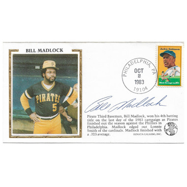 Bill Madlock Autographed First Day Cover - 1983 Fourth Batting Title (PSA)