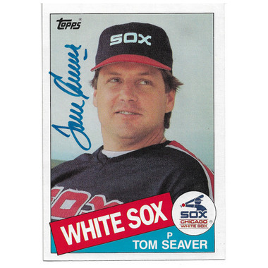 Tom Seaver Autographed Card 1985 Topps Super 5 x 7 # 31 (JSA)