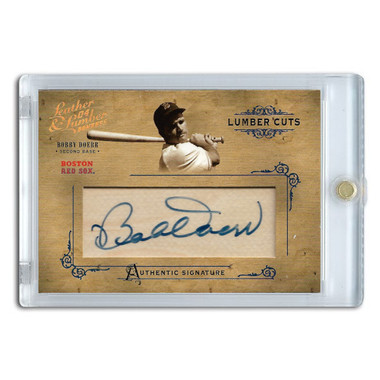 Bobby Doerr Autographed Card 2004 Donruss Leather & Lumber Cuts Ltd Ed of 224