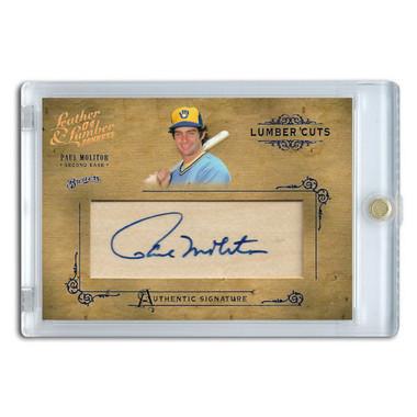 Paul Molitor Autographed Card 2004 Donruss Leather & Lumber Cuts Ltd Ed of 160