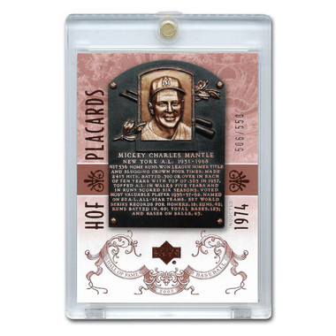 Mickey Mantle 2005 Upper Deck Hall of Fame Placards # 92 Ltd Ed of 550