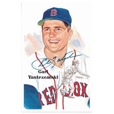 Carl Yastrzemski Autographed Perez-Steele HOF Series Postcard # 204 (JSA)