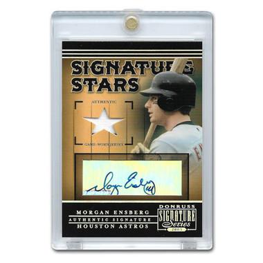 Morgan Ensberg Autographed Card 2005 Donruss Signature Stars # 5