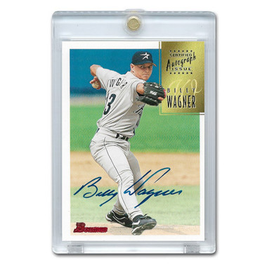 Billy Wagner Autographed Card 1997 Bowman # CA81