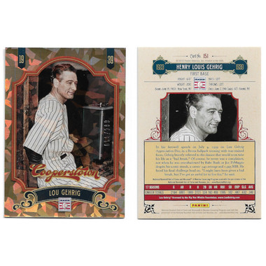 2012 Panini Cooperstown Gold Crystal 170 Card Set Ltd Ed of 299
