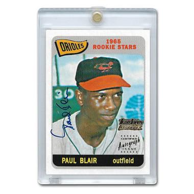 Paul Blair Autographed Card 2003 Topps Team Legends