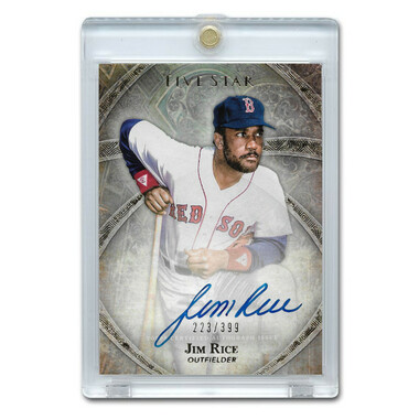 Jim Rice Autographed Card 2014 Topps 5 Star Ltd Ed of 399
