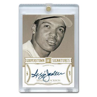 Reggie Jackson Autographed Card 2013 Panini Cooperstown Signatures Ltd Ed 30