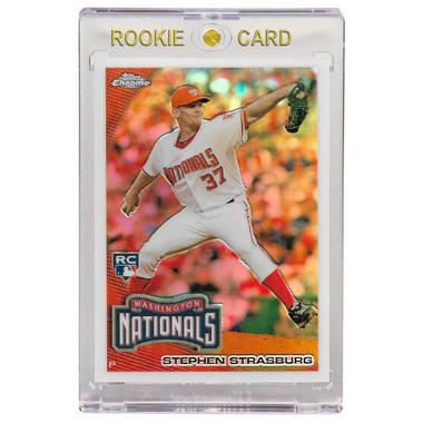 Stephen Strasburg Washington Nationals 2010 Topps Chrome Refractor # 21 Rookie Card