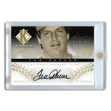 Tom Seaver Autographed Card 2012 Panini Signature Series K-Force Ltd Ed of 25