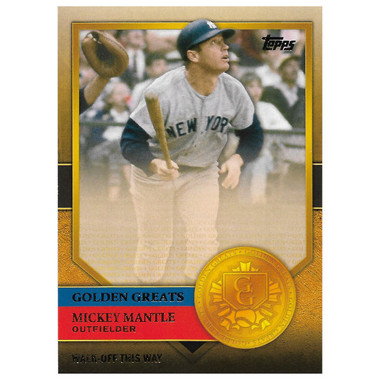 Mickey Mantle 2012 Topps Golden Greats Card # 31