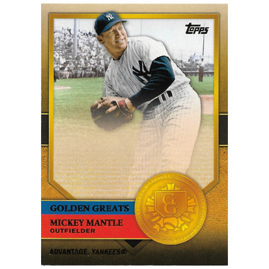Mickey Mantle 2012 Topps Golden Greats Card # 34