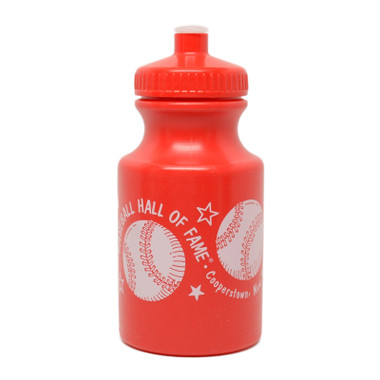Baseball Hall of Fame Youth Mini 12 oz Red Plastic Water Bottle