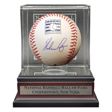 Nolan Ryan Autographed Hall of Fame Logo Baseball with Case (MLB/Fanatics)