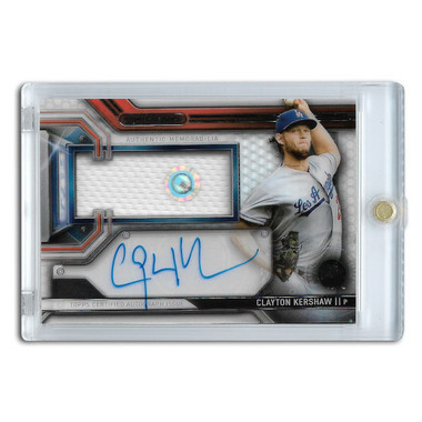 Clayton Kershaw Autographed Card 2016 Topps Strata Clearly Aunthentic Relic # CAAR-CK
