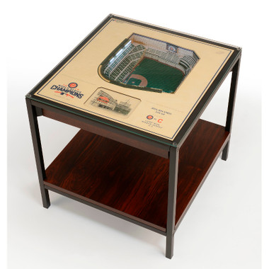 Chicago Cubs World Series Champions 25-Layer StadiumViews Lighted End Table - Wrigley Field