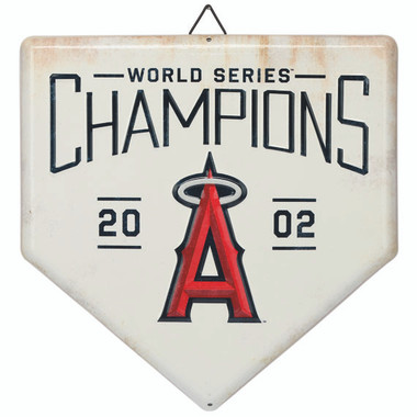 Los Angeles Angels World Series Champions Home Plate Metal Wall Art