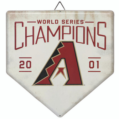 Arizona Diamondbacks World Series Champions Home Plate Metal Wall Art