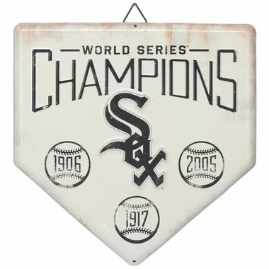Chicago White Sox World Series Champions Home Plate Metal Wall Art
