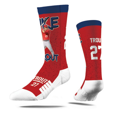 Strideline Mike Trout Full Image Premium Crew Socks