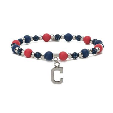 Rustic Cuff Cleveland Indians Mini Kaleidoscope Bracelet
