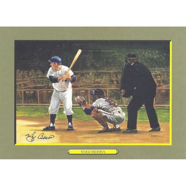 Yogi Berra Autographed Perez-Steele Great Moments Jumbo Postcard # 53 (Beckett)