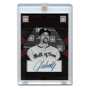 John Smoltz Autographed Card 2015 Panini Cooperstown Red # 26 Ltd Ed 49