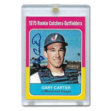 Gary Carter Autographed Card 2001 Topps Team Legends