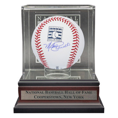 Mike Schmidt Autographed Hall of Fame Logo Baseball with Case (MLB/Fanatics)