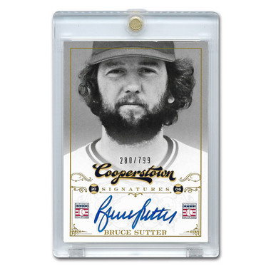 Bruce Sutter Autographed Card 2012 Panini Cooperstown Ltd Ed 799