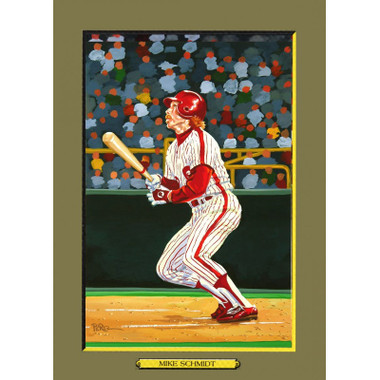 Mike Schmidt Perez-Steele Hall of Fame Great Moments Limited Edition Jumbo Postcard # 100