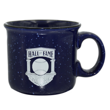 Baseball Hall of Fame Navy Vintage Logo Mug