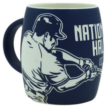 Baseball Hall of Fame Etched Batter Mug