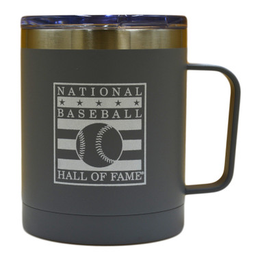 Baseball Hall of Fame Gray Stainless Steel Travel Mug