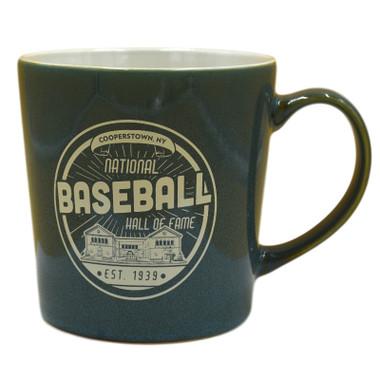 Baseball Hall of Fame Building Teal Established 1939 Mug