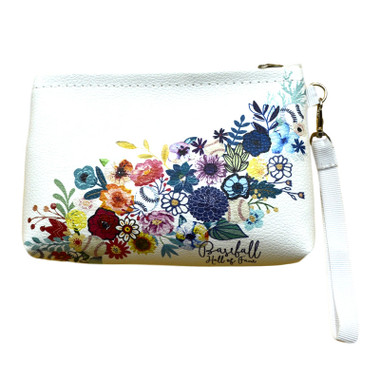 Baseball Hall of Fame Floral Wristlet