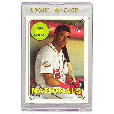 Juan Soto Washington Naitonals 2018 Topps Heritage # 502 Rookie Card