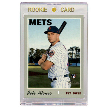 Pete Alonso New York Mets 2019 Topps Heritage # 519 Rookie Card