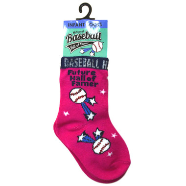 Infant Baseball Hall of Fame Future Hall of Famer Pink Socks