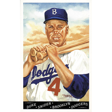 Duke Snider Perez-Steele Masterworks Limited Edition Postcard # 17