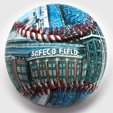 Safeco Field Unforgettaballs Limited Commemorative Baseball with Lucite Gift Box