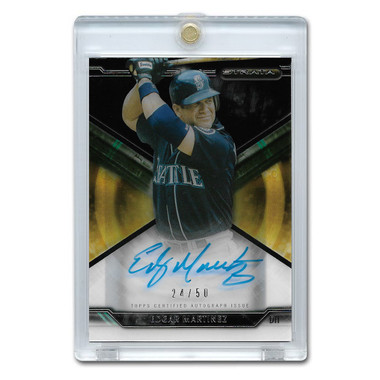 Edgar Martinez Autographed Card 2015 Topps Strata Ltd Ed of 50