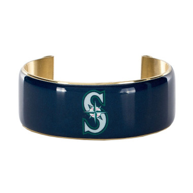 Rustic Cuff Seattle Mariners Art Deco Women's Large Cuff