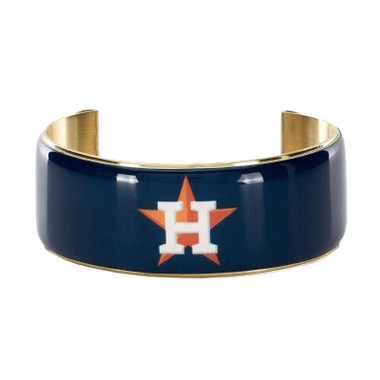 Rustic Cuff Houston Astros Art Deco Women's Large Cuff